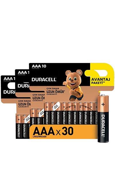 Duracell Alkalin Aaa Ince Kalem Piller, 30 Lu Paket
