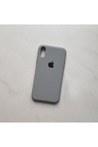 Gritty Iphone Xr Uyumlu Logolu Içi Kadife Lansman Silikon Kılıf