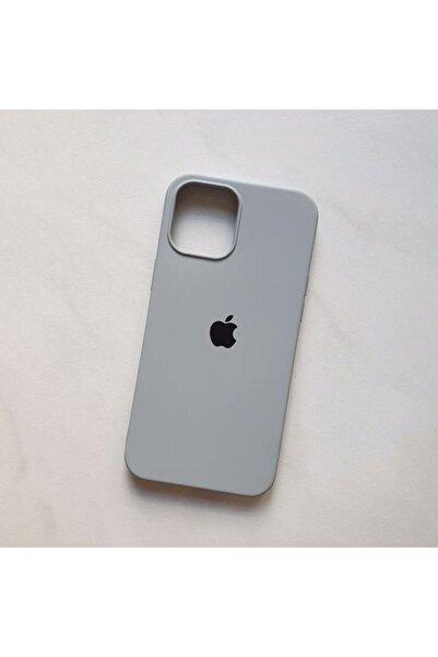 Gritty Iphone 12 Mini Uyumlu Logolu Içi Kadife Lansman Silikon Kılıf
