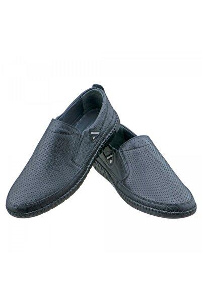 DMR Erkek Siyah Lazer İşlemeli Ayakkabı