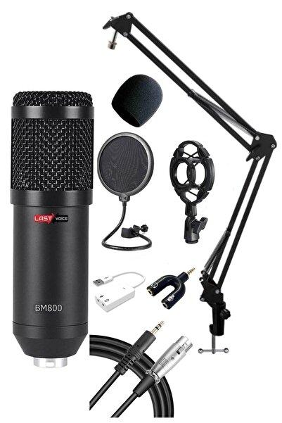 Lastvoice Black Set Mikrofon Stand Filtre Ses Kartı Bm800 Full