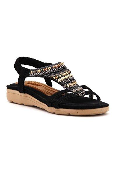 Guja Siyah Günlük Sandalet