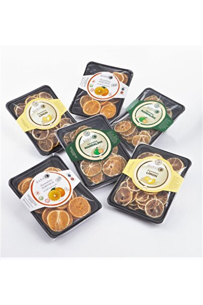 QURU Vitamin Paketi: Kurutulmuş Limon & Mandalina & Portakal Dilimleri