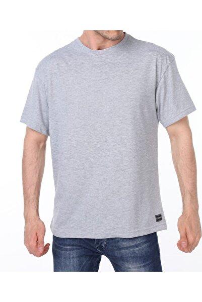 GENIUS Store Erkek Gri Oversize Tişört Bol Kesim Spor Tshirt