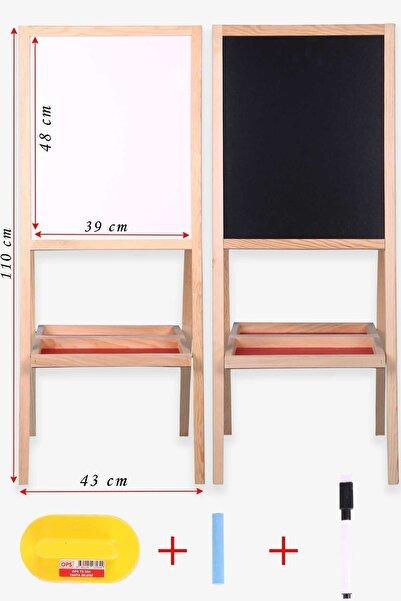 Breeze Çift Taraflı Manyetik Ahşap Çocuk Yazı Tahtası Açık Kahverengi (110 X 43 X 43 CM)