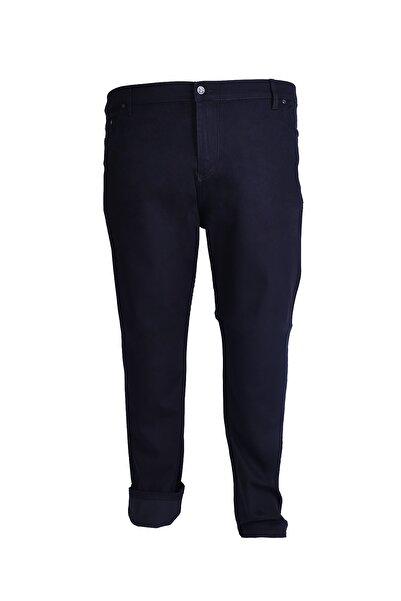 Morwagon Erkek Siyah Büyük Beden Keten Pantolon