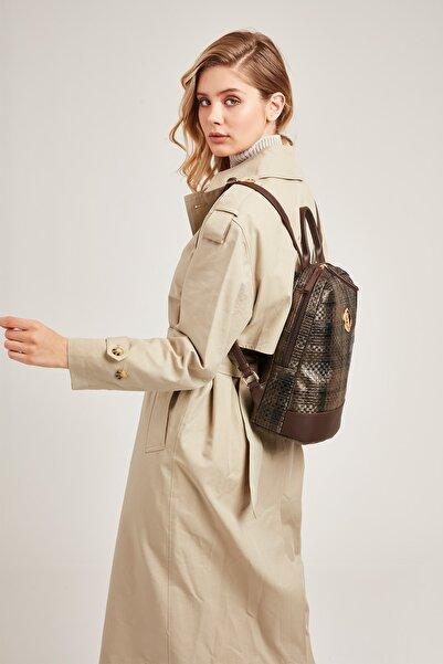 U.S. Polo Assn. Kadın Kahverengi Sırt Çantası Us8059