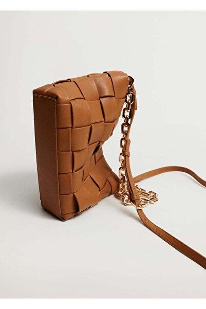 MANGO Woman Zincirli Örülü Çanta