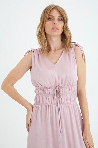 Chima Beli Büzgülü Elbise