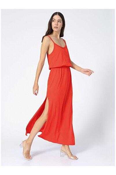 Fabrika Kadın Kırmızı Askılı Elbise