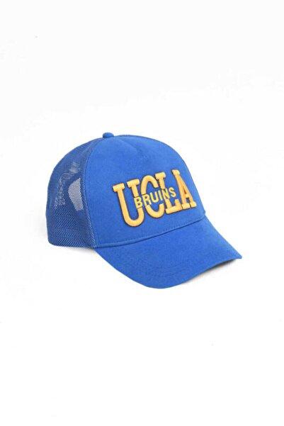 UCLA Mccloud Mavi Fileli Baseball Cap Nakışlı Şapka