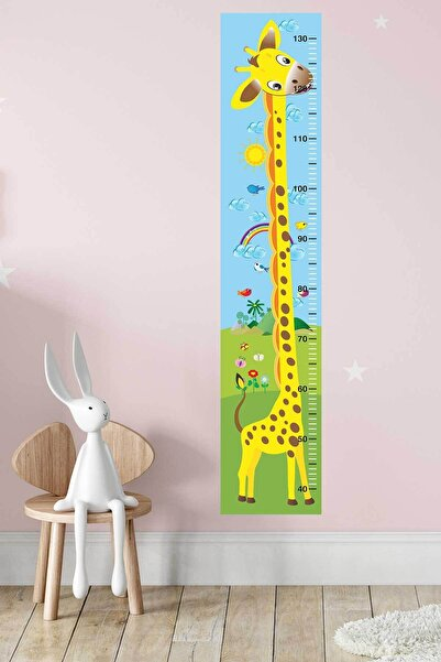 Canvartie Yavru Zürafa Boy Ölçer Sticker