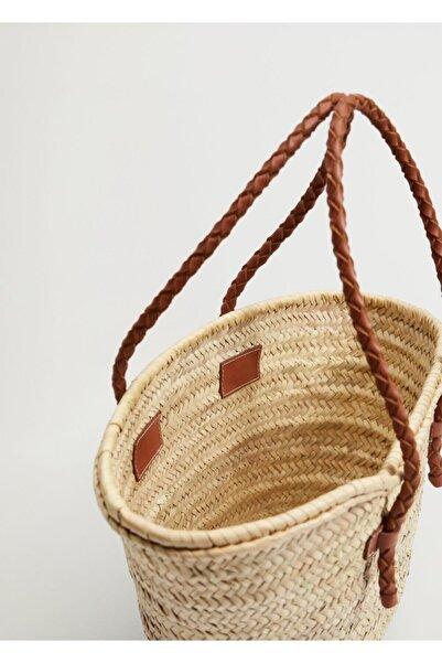 MANGO Woman Burgu Askılı Basket Çanta