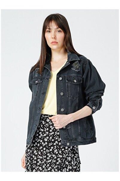 LİMON COMPANY Kadın Siyah Jean Ceket