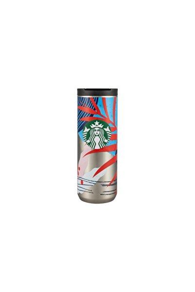 Starbucks Çiçek Tasarımlı Termos 473 ml