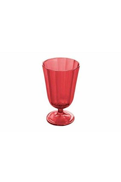 Porland Bordo Kırmızı Meşrubat Bardağı 190 Cc 4 Adet