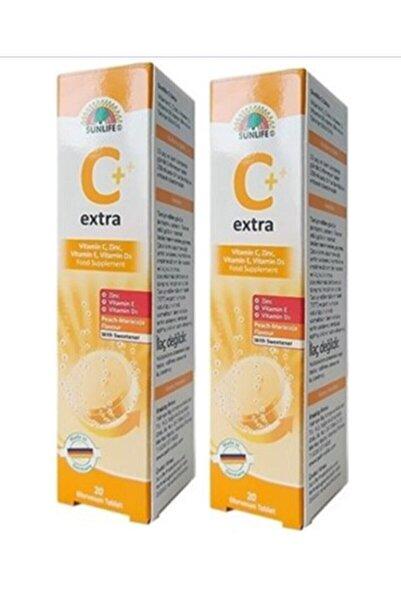Sunlife Vitamin C Extra 20 Efervesan Tablet - Şeftali Maracuja (2 Adet)