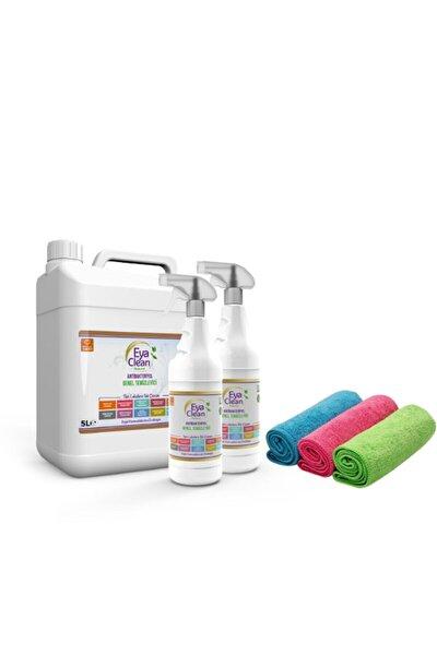 EYA CLEAN 5 litre Bidon 2 Adet 1 litre EYA CLEAN Antibakteriyel Genel Temizleyici 3 Bez