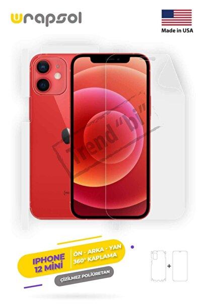 Wrapsol Apple Iphone 12 Mini Ekran Koruyucu,arka Ön Yan,darbe Emici Poliüretan Fullbody