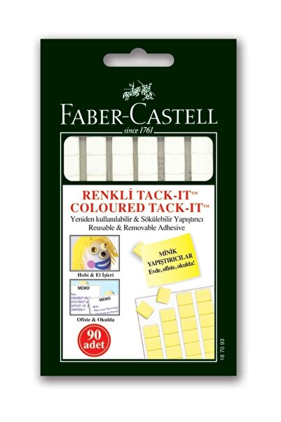 Faber Castell Hamur Yapıştırıcı Patafix 90 Adet Sakızı Tack It