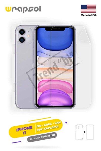 Wrapsol Iphone 11 Ekran Koruyucu Full Body, Arka, Ön Yan Poliüretan Film