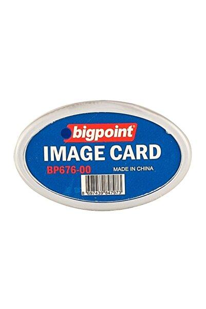 Bigpoint Akrilik Isimlik Oval Şeffaf
