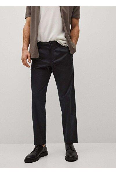 MANGO Man Erkek Siyah Relaxed Kesim Pantolon