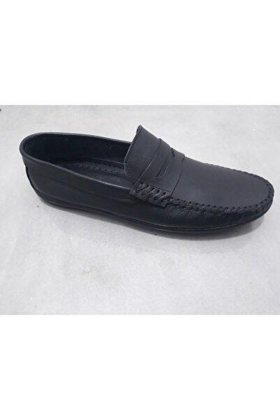 Kaşmir Erkek Siyah Babet Ayakkabı