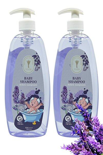 Gallipoli Lavender Bitkisel Lavanta Yağlı Bebek Şampuanı 500 ml Rahatlatıcı Uyku Şampuanı 2'li Rahatlatıcı Anti Terapi