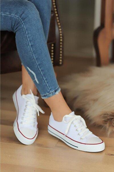 Pembe Potin Beyaz Kadın Casual Ayakkabı A3232-20