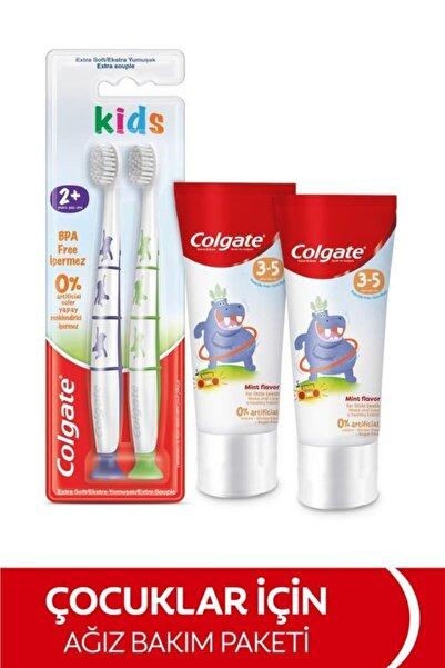Colgate 3-5 Yaş Florürsüz Çocuk Diş Macunu 60 Ml, 2+yaş Ekstra Yumuşak Çocuk Diş Fırçası 1+1