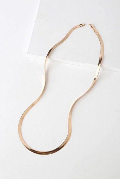 shey butik Kadın Gold Italyan Zincir Kolye