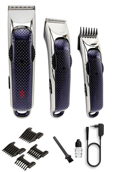 yopigo Lct-21 X Blade Sersi Erkek Lacivert Profesyonel Şarjlı Saç Ve Sakal Kesme Traş Makinesi