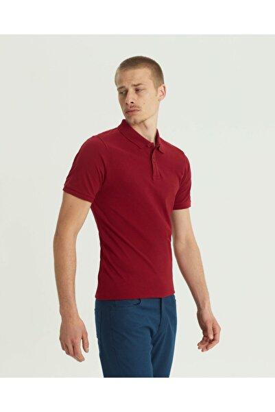 SÜVARİ Erkek Bordo Slim Fit Polo Yaka T-shirt