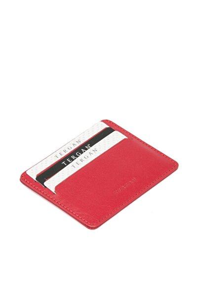 Tergan Hakiki Deri Kırmızı Unisex Kredi Kartlık S1KK00001050
