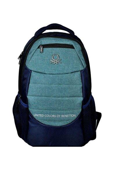Benetton United Color Of Benetton Lacivert/Yeşil Üç Bölmeli Sırt/Okul Çanta - Hakan 96049