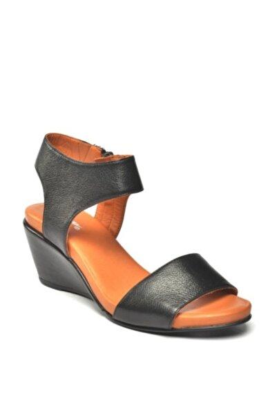 Zeyn Kadın Siyah Sandalet 7016