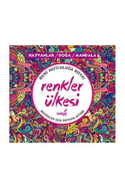 İndigo Kitap Renkler Ülkesi Hayvanlar Doğa Mandala Kolektif