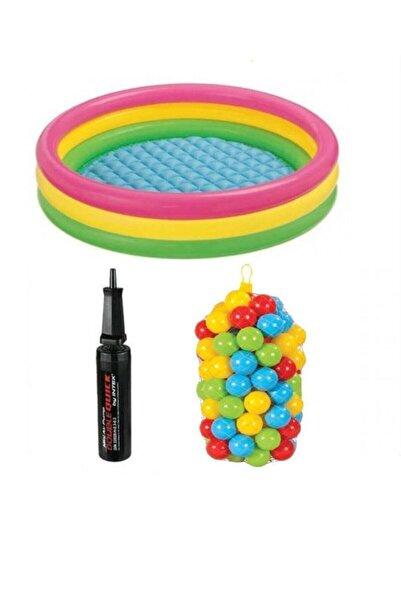 SmartFox Intex 147 Cm Oyun Havuzu (şişme Taban ) 100 Oyun Topu Pompa