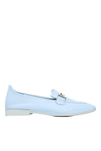 KEMAL TANCA Kadın Mavi Derı Loafer Ayakkabı 832 101 Bn Ayk Y21