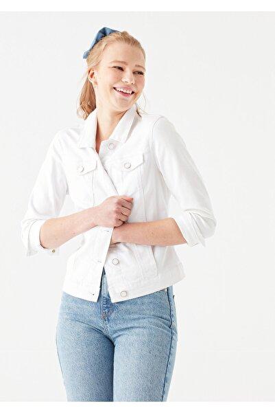 Mavi Daisy Beyaz Gold Jean Ceket 1113629204