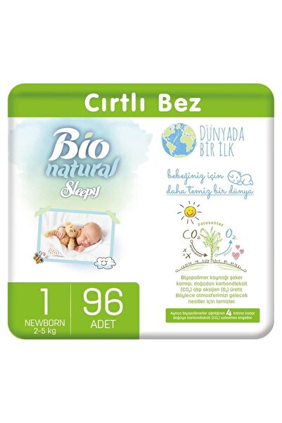 Sleepy Bio Natural Bebek Bezi 1 Numara Yenidoğan 96 Adet