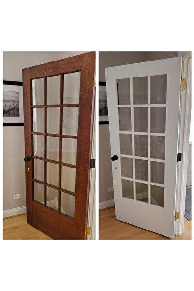 Filli Boya Panel Kapı Boyası Seti Su Bazlı Yarı Mat 0,75l Beyaz Kullanıma Hazır Fırça Band Zımpara Hışır Örtü