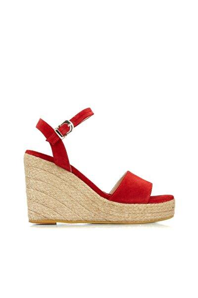 Dıvarese Kadın Kırmızı Bantlı Sandalet