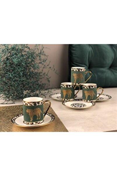 Sembol Leopar Desenli 2 Li Kahve Fincanı