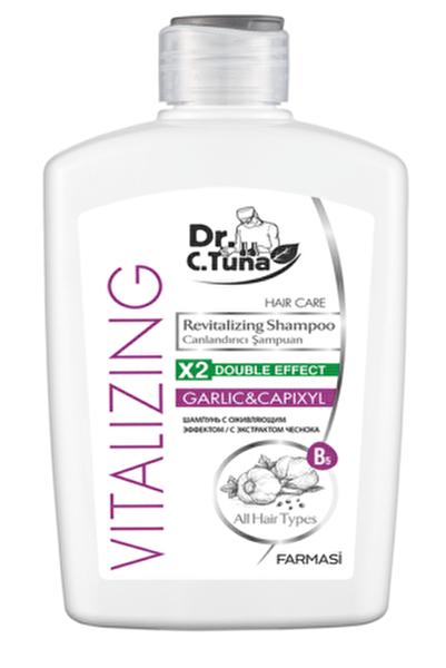 DR. C. TUNA Vitalizing Tüm Saçlar için Canlandırıcı Sarımsaklı Şampuan-500 ml