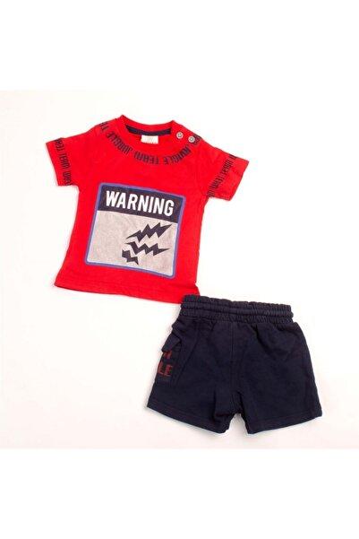 Sisero Erkek Bebek Kırmızı Warnıng Baskılı Şortlu 2 Li Takım 6-18 Ay