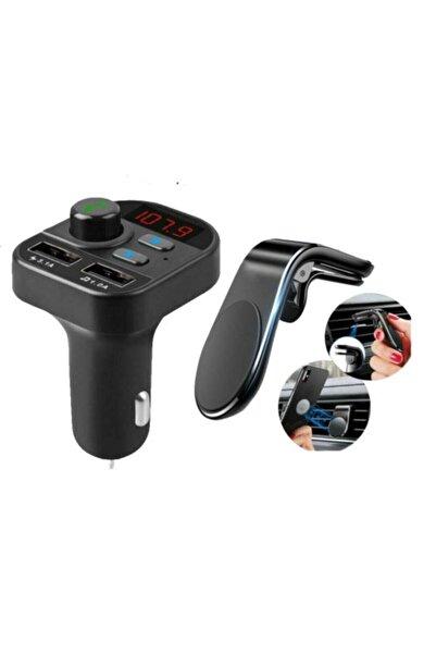 POLYGOLD Carx9 Bluetooth Araç Kiti Transmitter Ve Mıknatıslı Telefon Tutucu