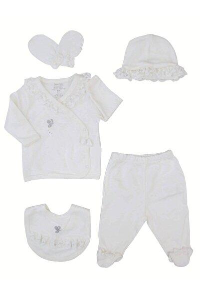 İmaj Kız Bebek Beyaz Livelybabys Dantelli Kelebekli 5'li Hastane Çıkışı
