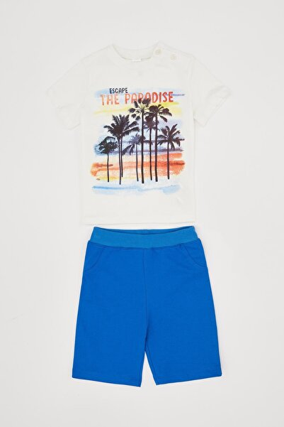 DeFacto Erkek Bebek Seaside Şort Tişört Takım